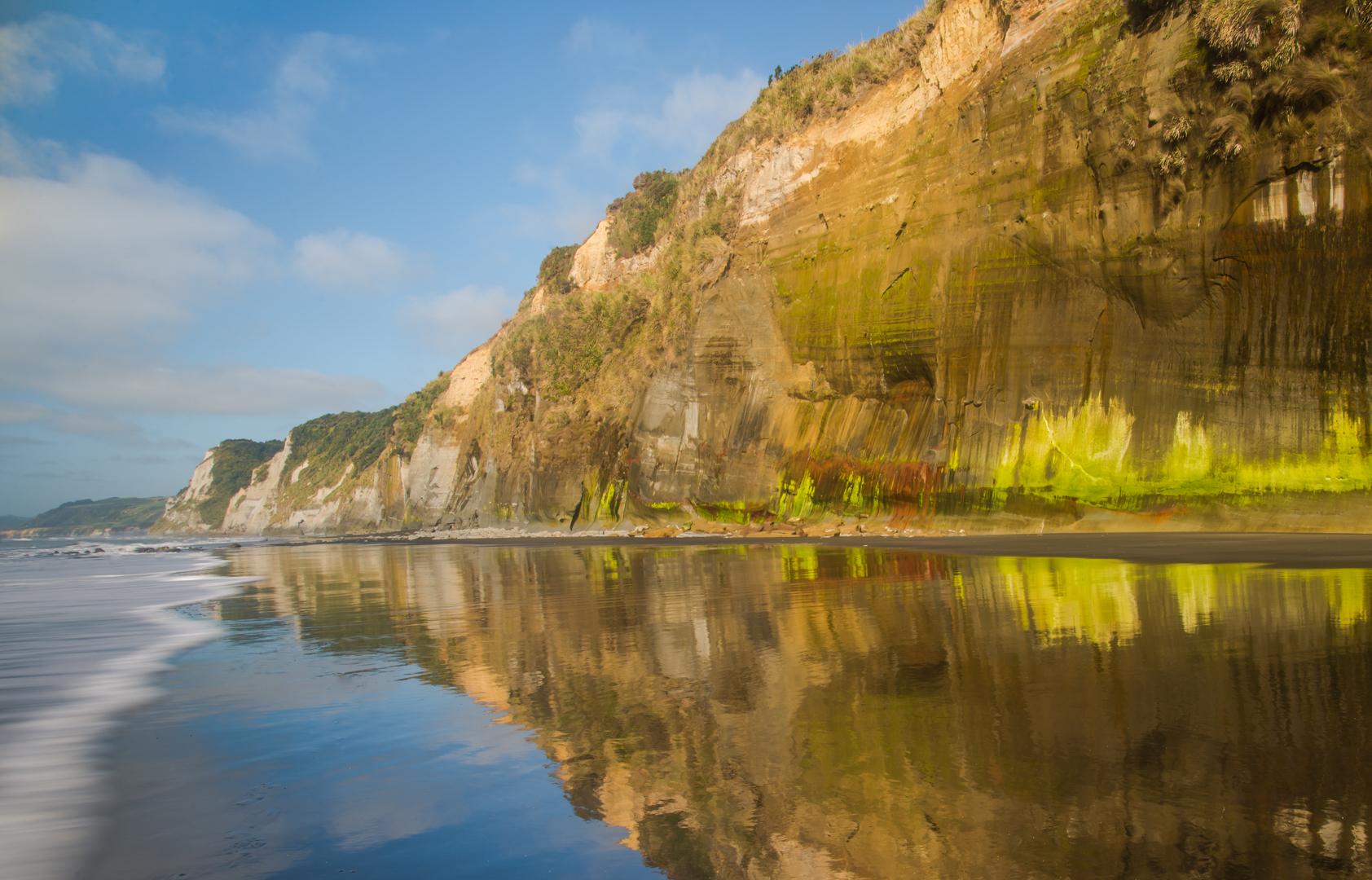 White cliffs bay New Zealand