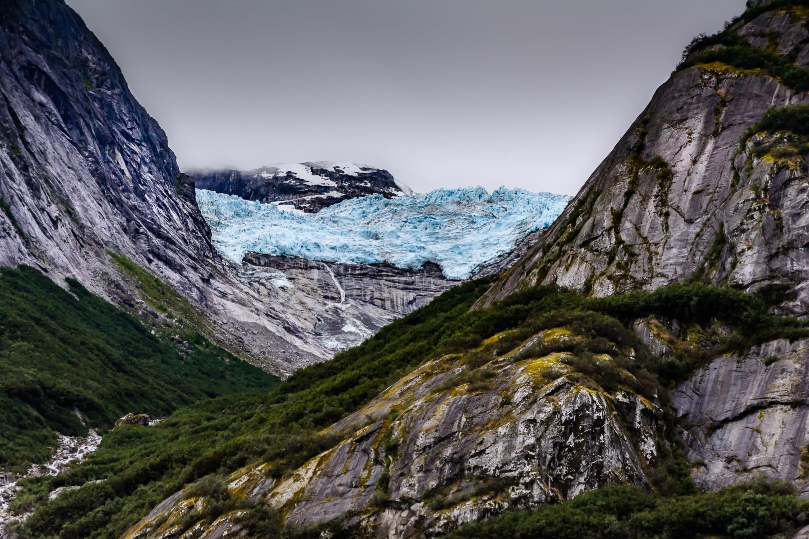 Retreating Glacier - Endicott Arm Fjord Alaska