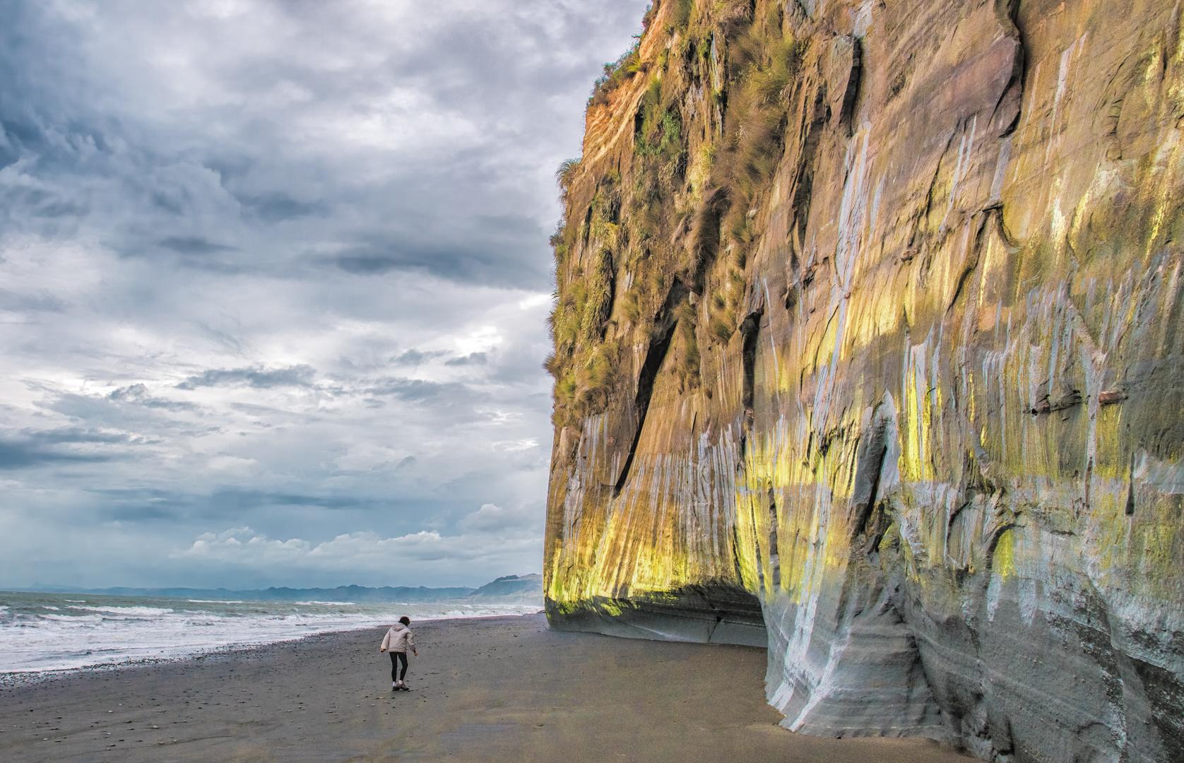 white cliffs New Zealand