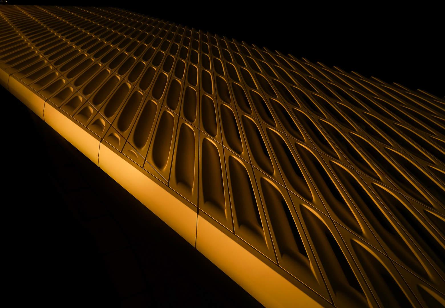 Facade of the Broad Art Museum,LA
