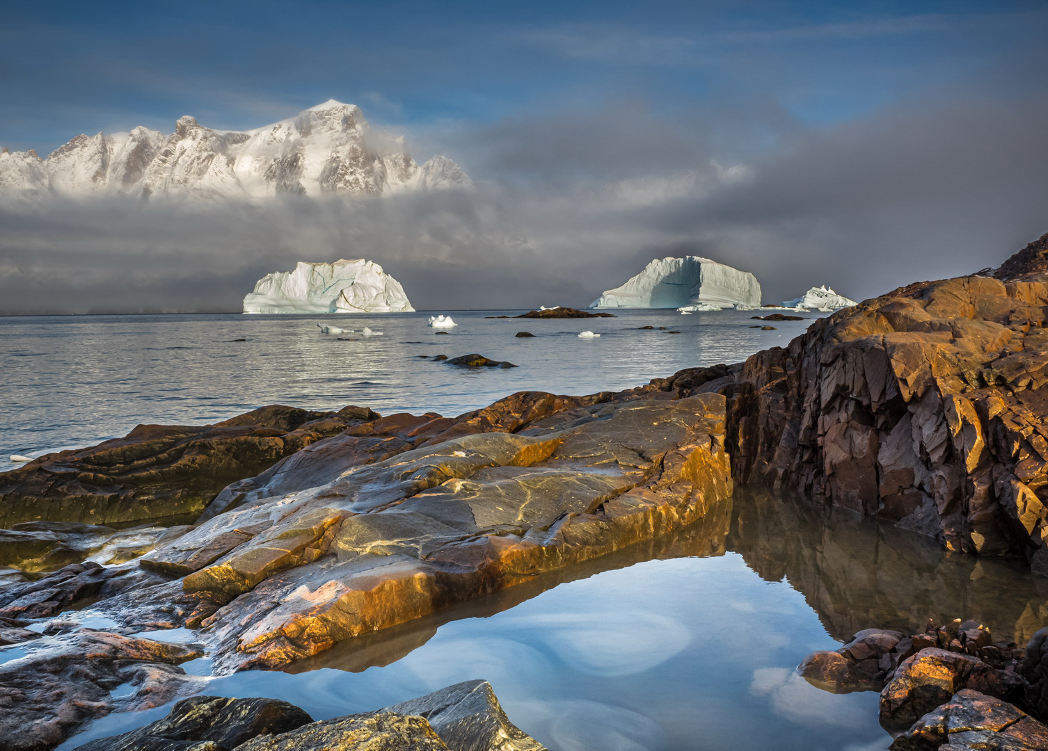 Touch of sun, East Greenland