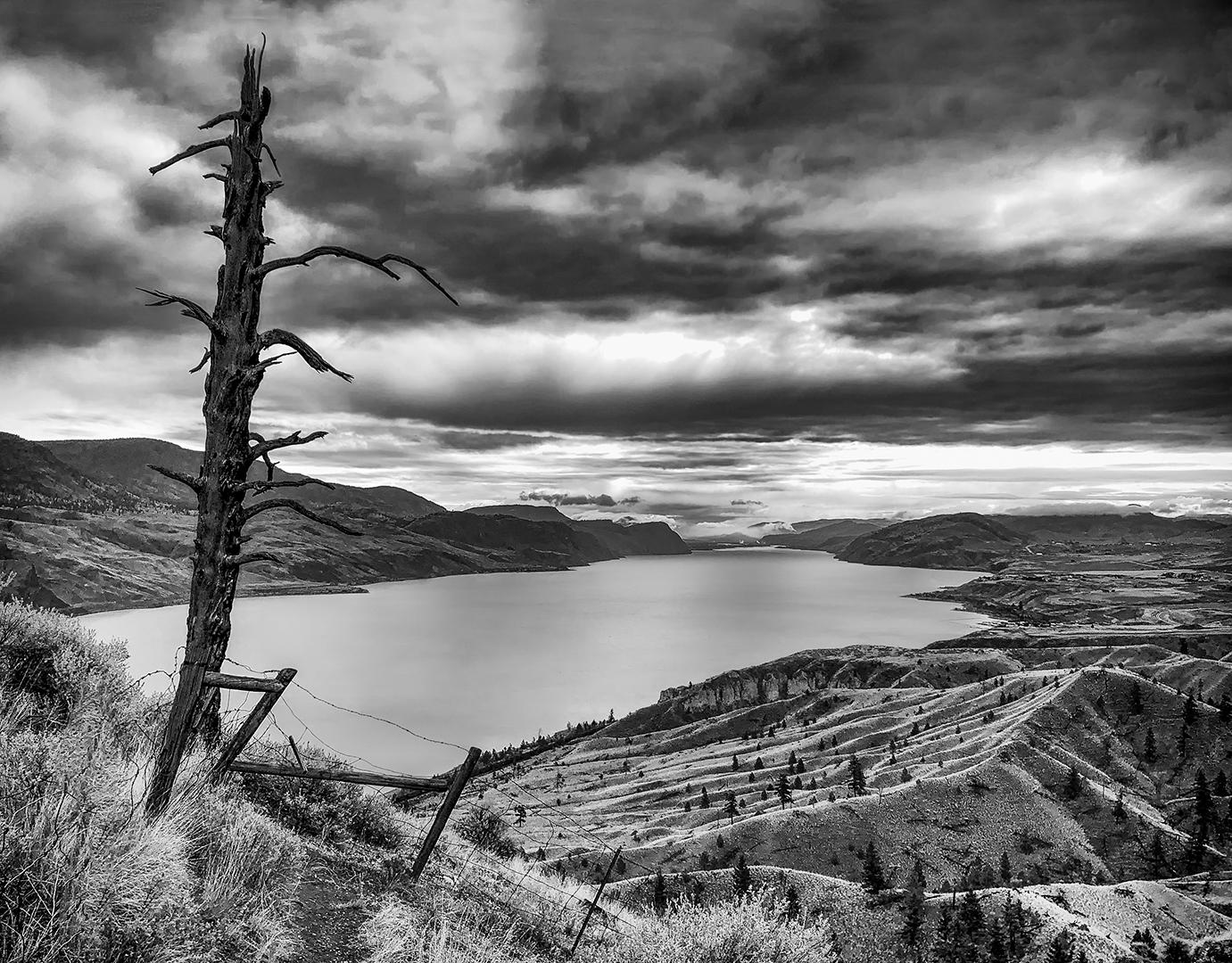 A bleak view of Kamloops Lake