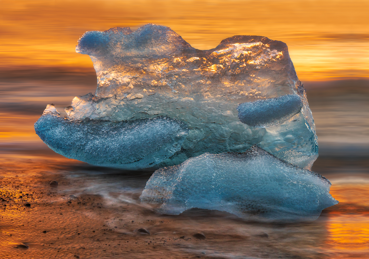 Sunrise on the iceberg