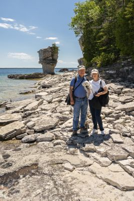 Tony, Pat & Alli at Flowerpot Island