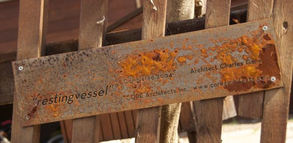 Resting Vessel Rusty Sign