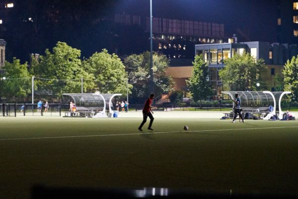 Back Campus - Night Game in progress