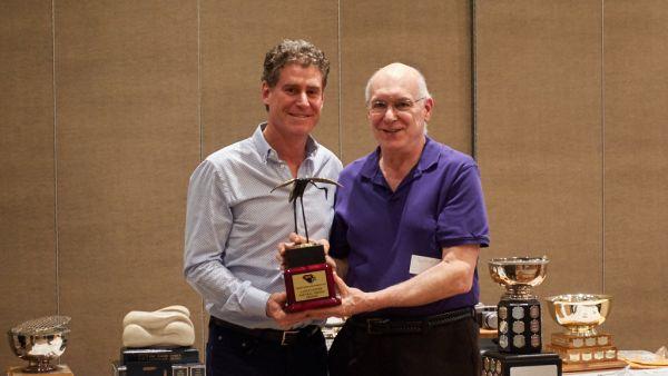 Lance Gitter presenting Lance Gitter Trophy to Lorne Rose