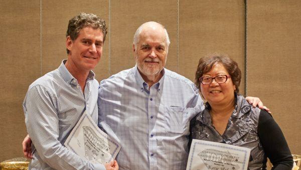 Jonathan Ward Trophy - Lorne Rose, John Allman and  Katie Mak (Winner Pat Zuest absent)